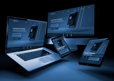 Webdesign for dantal calculator