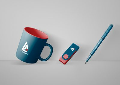 Logo design and branding for yacht manufacturer company