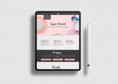 Webdesign for sugarpaste producing company